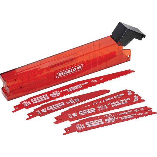 Diablo 6-Piece Demolition Reciprocating Saw Blade Set