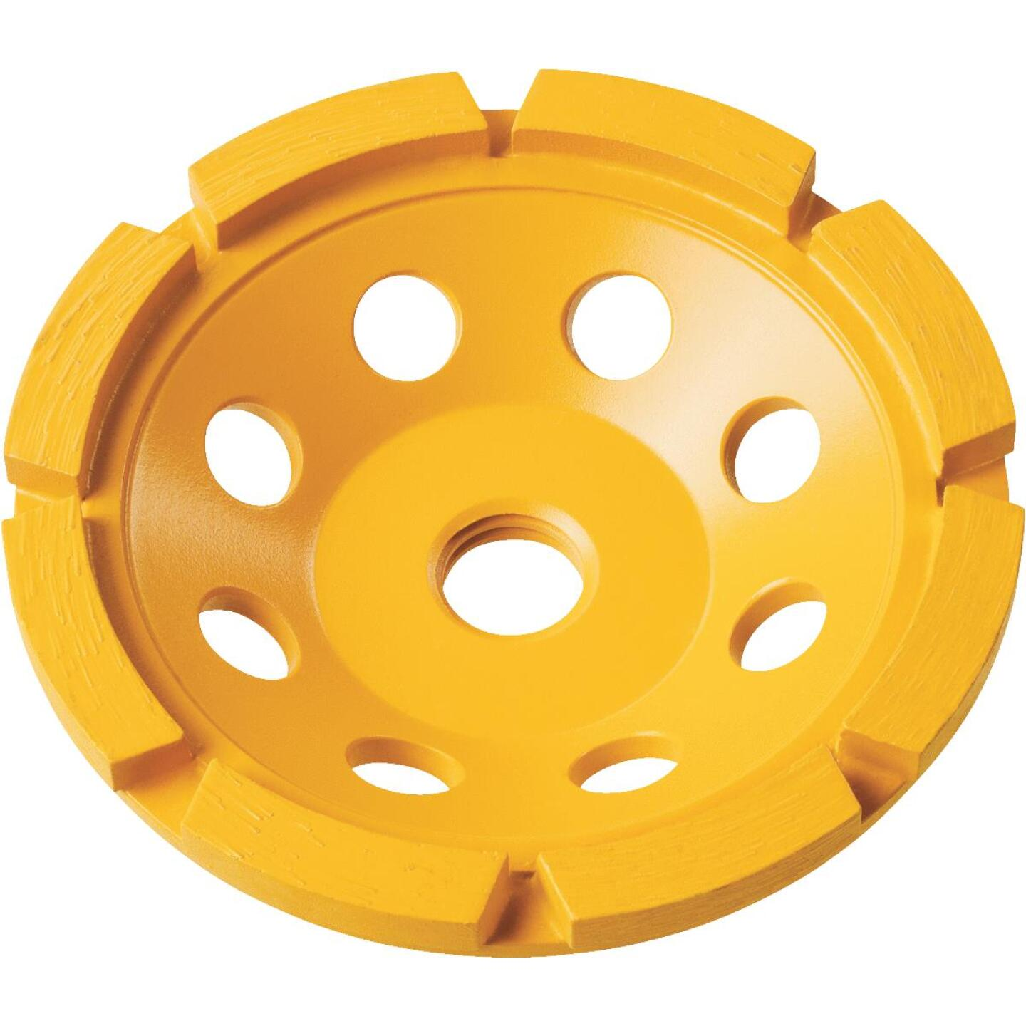 DeWalt 4 In. Segmented Single Row Masonry Cup Wheel Image 1