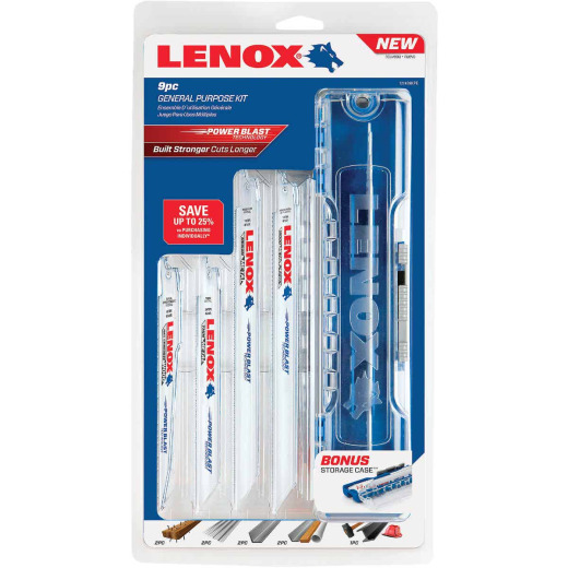 Lenox 9-Piece General Purpose Reciprocating Saw Blade Set