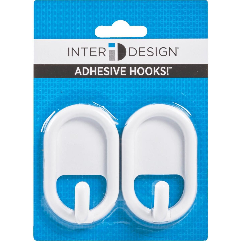 InterDesign Utility White Plastic Adhesive Hook (2-Pack) Image 2
