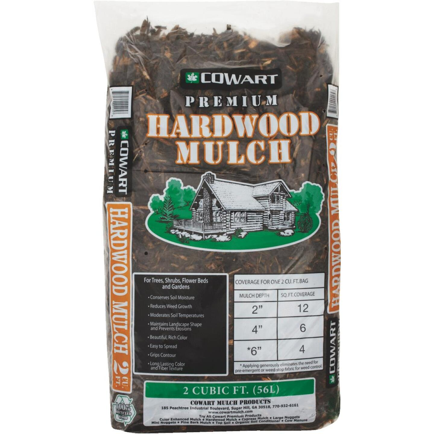 Cowart 2 Cu. Ft. Natural Brown Shredded Hardwood Mulch Image 1