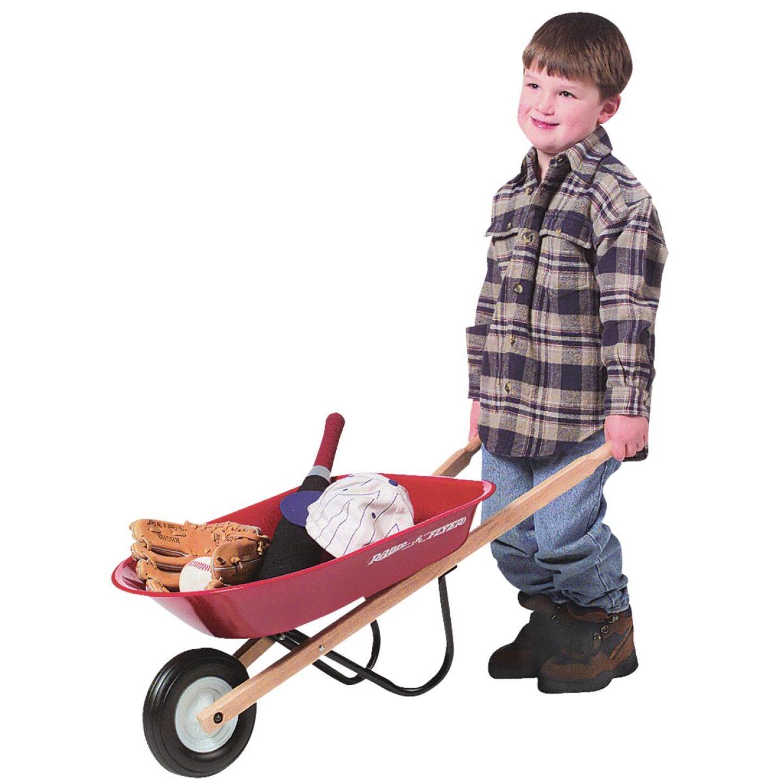 Radio Flyer 30 Lb. Steel Kid's Wheelbarrow Image 4